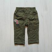 Стильные джинсики на котоновой подкладке для маленького модника. M&Co. Размер 0-3 месяца