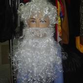 Парик с бородой Деда Мороза