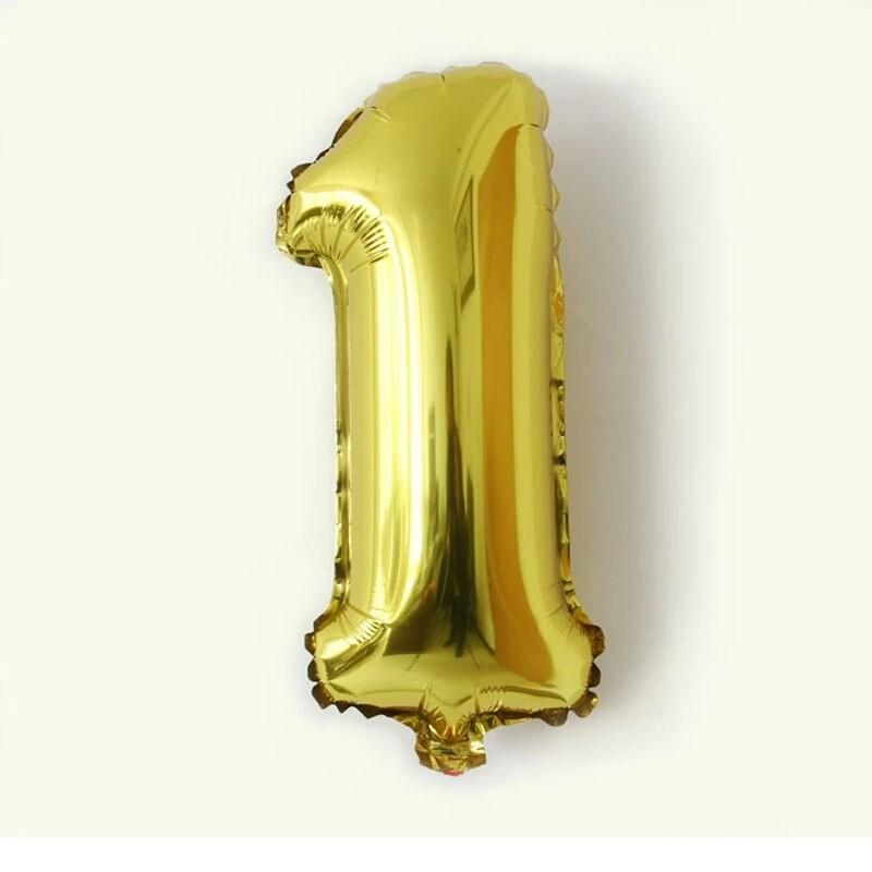 Надувные цифры шарики фольгированные, шары для праздника день рождения фото №1