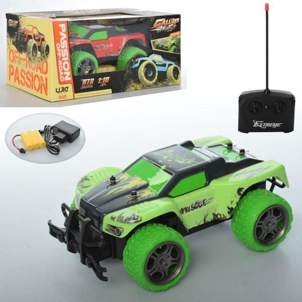 Машина uj99-y182b радіокер., акум., 1:18, небит.корпус, гум.колеса, 2 кольори, кор., 31-14-16 см. фото №1