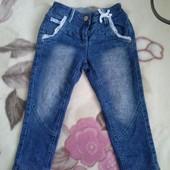 Утепленные джинсы на 3 года