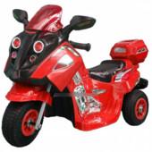 Детский мотоцикл-мопед FT 747 надувные колеса,красный