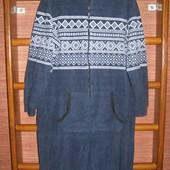 Пижама флисовая мужская, размер М/L рост до 175 см,Cedar Wood State