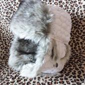 Зимняя шапка белая 11-13 лет