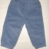 вельветовые штаны на подкладке на 6-9 мес