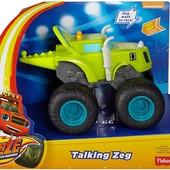 Fisher-Price Nickelodeon Blaze & the monster machines, talking Zeg Vehicle - зег