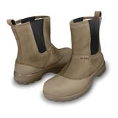 Кожаные сапоги Крокс Crocs khaki greeley leather boot