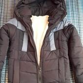 Акция! Зимняя удлиненная  куртка на  мальчиков.  Рост 134-146.