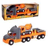 Машина Super Truck , с бетономешалкой, в кор.27 82 20 см, Тм Wader 36750