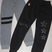 Зимние утепленные спортивные штаны в размере 134-140