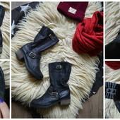 Стильные ботинки-полусапоги,кожа,р-р 38