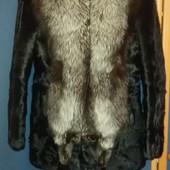 Продам шубу из натурального меха кролика и воротник чернобурка