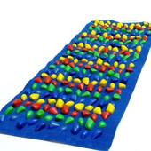 Массажный коврик с цветными камнями 100х40 см (MS-1263)