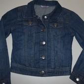 курточка джинсовая 7-8.5 лет