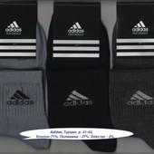 Носки мужские Adidas, Турция, 41-44 р., деми, х/б, спорт, средние, ассорти