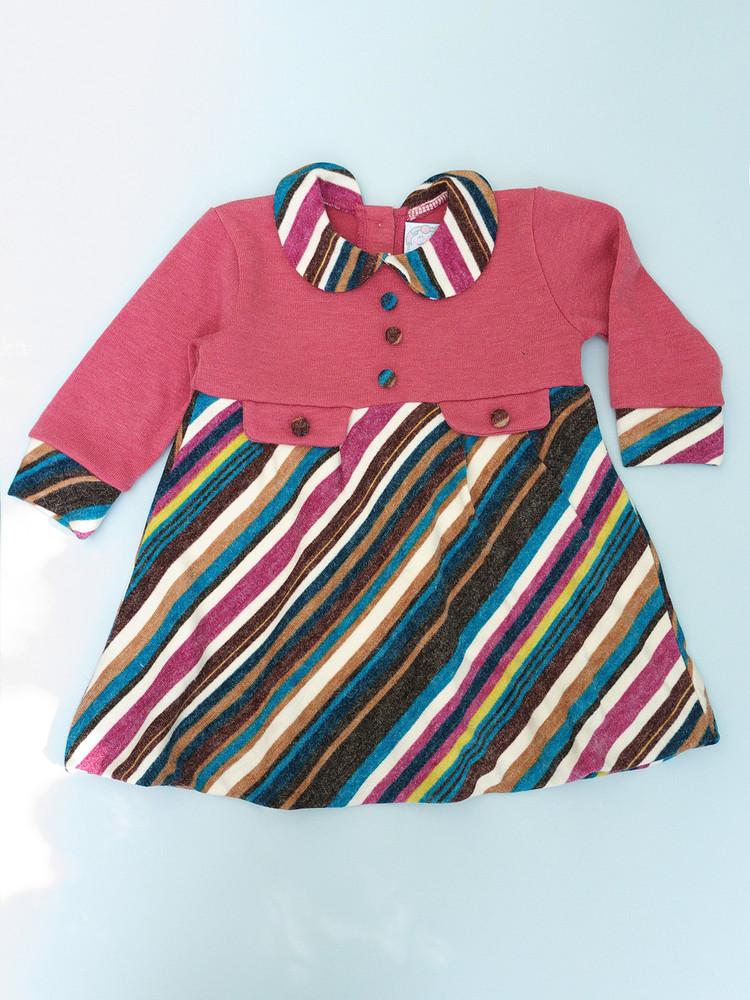 Теплое платье для девочки 80, 92 фото №1