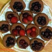 Шоколадное печенье с ягодами (без яиц)