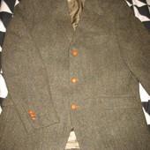 Пиджак твидовый,шерстяной,р.54.