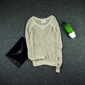 S-M Hollister свитер в сеточку с золотыми нитками и напылением!0147