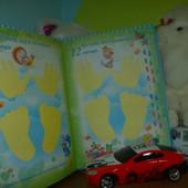 Большой красивый информационный фотоальбом для новорожденного с первых дней!