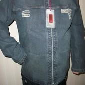 Доставка укрпочтой бесплатно!джинсовый пиджак куртка мужской р.40,42,44,46,48.50,52,54,56,58