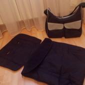 комплект на коляску (челол на ножки,конверт+сумка)Mothercare