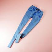 S-M Pull&Bear плотные джинсы-скини с эффектом варенности!0164