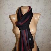 Актуальный вязаный теплый мужской шарф.
