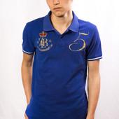 Поло мужское Zara Man, синее (L)