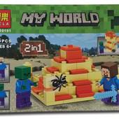 """Конструктор Bela Minecraft 10191 """"2в1"""", 66 деталей"""