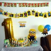 Цифра 1 на день рождения (1метр) - единичка шар на годик