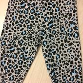 Легинсы зимний принт, леопард H&M  на рост 146см. Идеальное состояние.