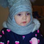 Зимний комплект.Очень теплая шапка и хомут.