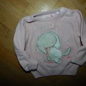 Tu Стильный свитер на девочку 6-9 мес