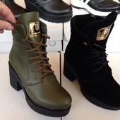 Женские ботинки Кожа Зима