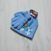 Новый трендовый комплект для девочки: шапка + рукавички. Disney. Размер 2-5 лет
