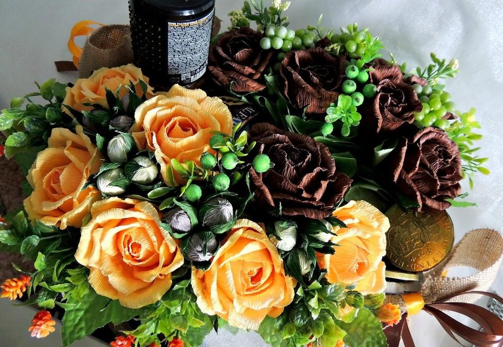 Сладкий подарок сладкий букет с конфетами фото №1