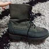 Кожаные ботинки для мальчика 25 см по стельке новые