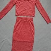 Модный комплект derek heart  юбка и топ
