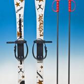 Лыжи с палками Marmat детские пластиковые 90 см