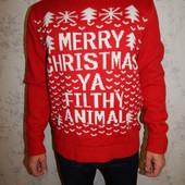 Grabal Alok свитер мужской тёплый новогодний стильный модный рL
