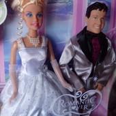 Барби невеста с женихом кеном Defa. 33х34см коробка