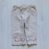 Стильные льняные штаники для девочки. H&M. Размер 6-9 месяцев. Состояние: новой вещи