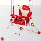 Детские качели Q01-3 со столиком, трансформер, красные