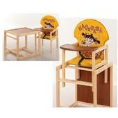 Стульчик для кормления трансформер деревянный МV-010-23-2
