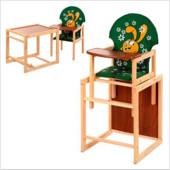 Стульчик для кормления трансформер деревянный МV-010-22-3