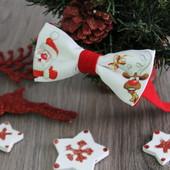 Бабочка -галстук с принтом Санта Клауса,