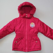 Теплая куртка еврозима для девочки Disney Princess, р. 113-119
