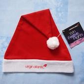 Продаю! Новая карнавальная шапка Санта. П/об 29 см.