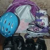 Ролики, шлем, защита